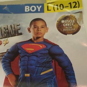 Superman costume Justice League muscle superhero